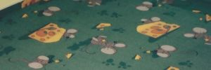 Bytový koberec - potisk