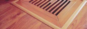 Zakončení podlahy v průduchu teplého vzduchu